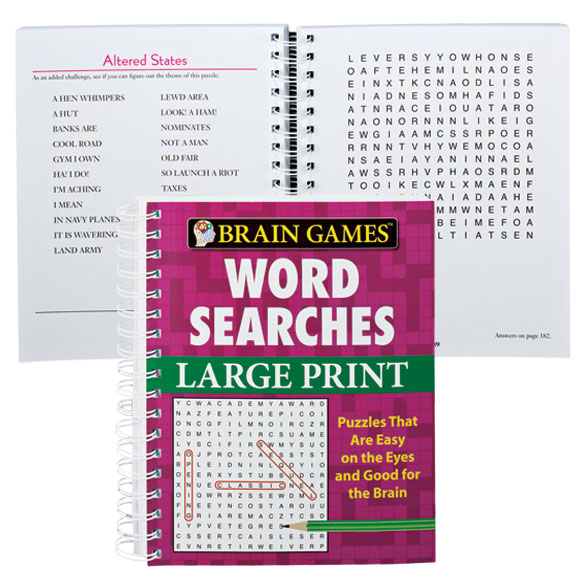 Large Print Word Search Book