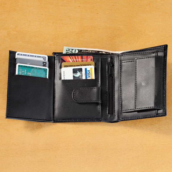 Leather RFID Wallet - 20 Pockets