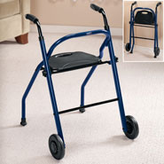 Walkers - 2 Wheel Walker With Seat