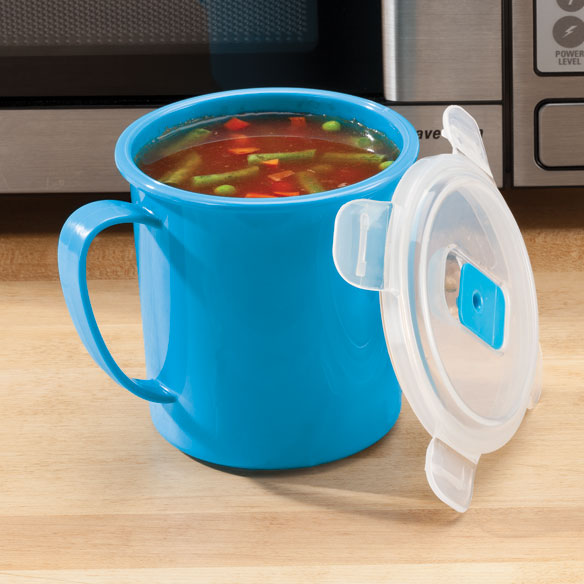 Microwave Soup Mug with Locking Lid