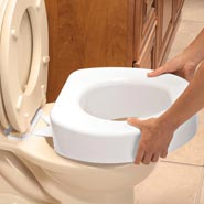 Toilet Aids - Quick Lock Raised Toilet Seat