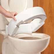 Toilet Aids - Hinged Raised Toilet Seat