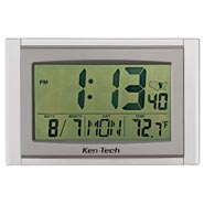 Home Necessities - 5 in 1 Large LCD Atomic Clock