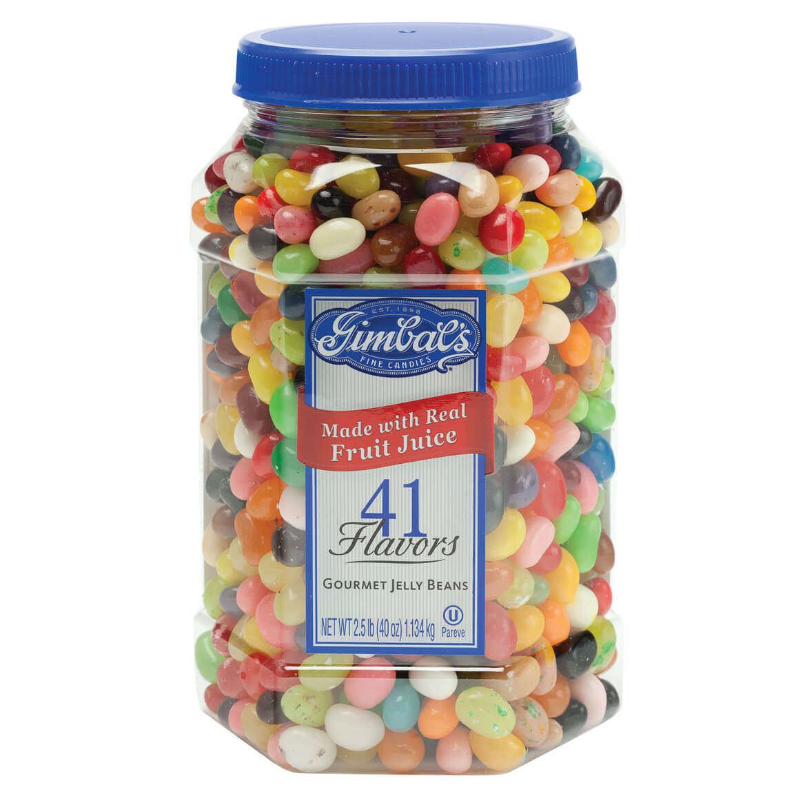 Gimbal's Gourmet Jelly Bean Jar, 40 oz.-347267
