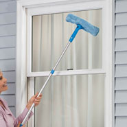 Home Necessities - Telescoping Microfiber Cleaning Tool and Squeegee Set