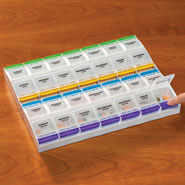 New - XL Push Button Medication Planner