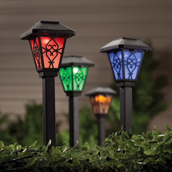 Black Color Changing Solar Light