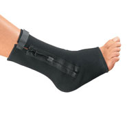 Braces & Supports - Compression Ankle Support With Zipper