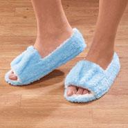 Comfort Footwear - Easy Fit Open Toe Terry Slippers