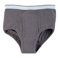 Incontinence Briefs For Men - 12 Oz. Gray
