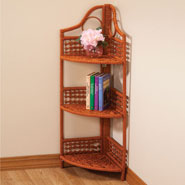 Furniture - Wicker Corner Storage