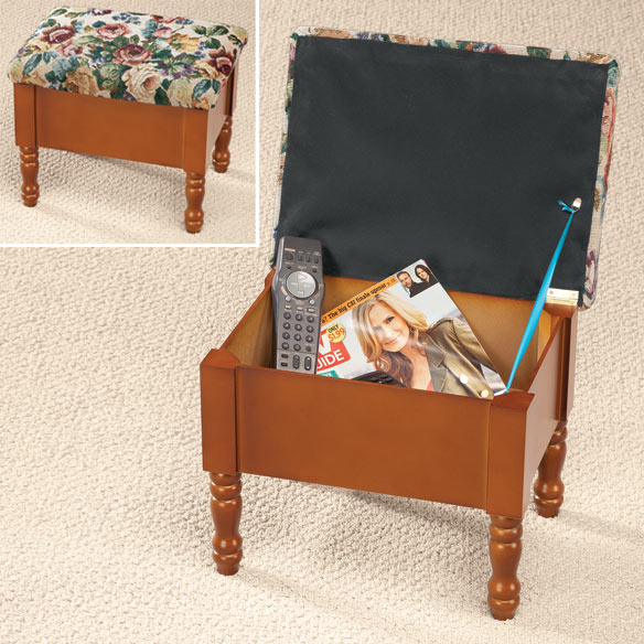 Tapestry Storage Ottoman - View 1