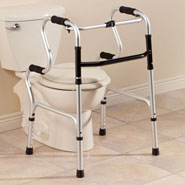 Walking Aids - 2 in 1 Folding Walker                          XL