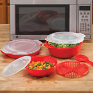 Clearance - 8 Pc. Red Microwave Cookware Set