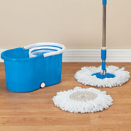 New - Clean Spin 360° Microfiber Mop and Bucket Set