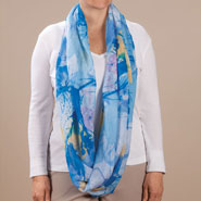 New - Watercolor Infinity Scarf