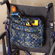 New - Navy Print Walker/Wheelchair Bag