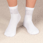 Diabetic Hosiery - Diabetic Ankle Socks - 2 Pair