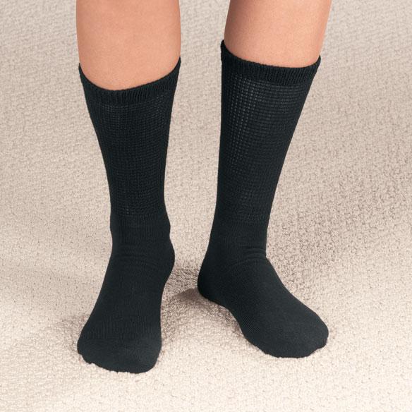Diabetic Crew Socks, 2 Pair