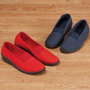 Comfort Footwear - Comfort Fit Elastic Slip Ons