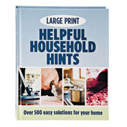 "Office & Leisure - Large Print ""Helpful Household Hints"" Book"