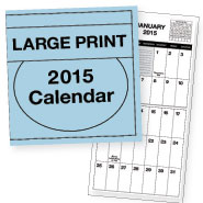 Hobbies & Books - Large Print Calendar