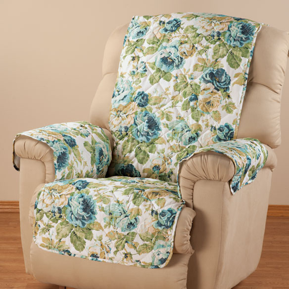 English Floral Microfiber Recliner Cover Chair Cover