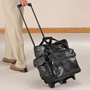 Auto & Travel - Patch Leather Rolling Bag