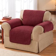 Home Comforts - Sherpa Chair Protector by OakRidge Comforts ™