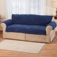 Home Comforts - Sherpa Loveseat Protector by OakRidge Comforts ™