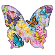 Hobbies & Books - Butterfly Garden Shaped Puzzle - 640 Pieces