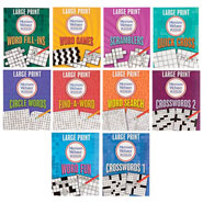 Hobbies & Books - Large Print Merriam Webster 10-Book Puzzle Set