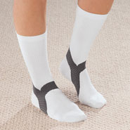 New - Plantar Fasciitis Crew Socks, 1 Pair