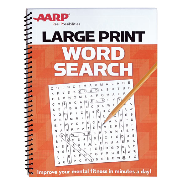 AARP Large Print Word Search - Word Search Games - Easy Comforts