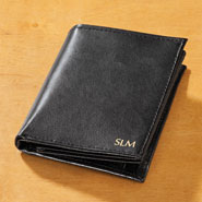 New - Personalized Leather RFID Wallet with 20 Pockets