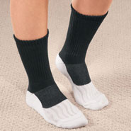 Diabetic Hosiery - Bamboo/Copper Diabetic Crew Socks, 1 Pair