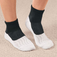 Diabetic Hosiery - Bamboo/Copper Diabetic Ankle Socks, 1 Pair