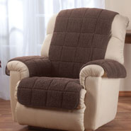 Home Comforts - Waterproof Quilted Sherpa Recliner Protector by Oakridge Comforts®