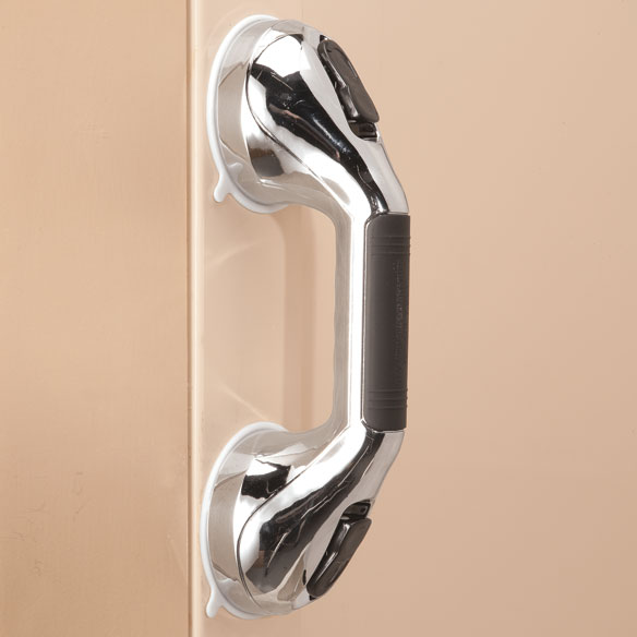 Chrome Suction Grip Shower Grab Bars