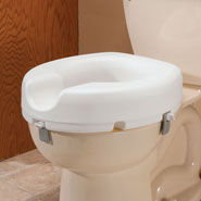 Bathroom Accessories - Front Locking Raised Toilet Seat