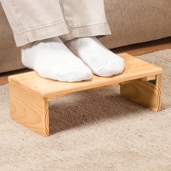 Folding Footrest Wooden Foot Stool Portable Foot Rest