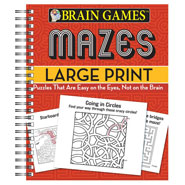 Hobbies & Books - Brain Games™ Large Print Mazes