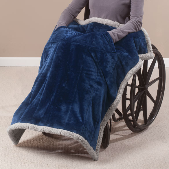 Ultra Plush Wheelchair Blanket Throw Blanket Easy Comforts