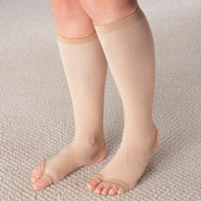 New - Stirrup Compression Stockings with Gel, 15–20 mmHg