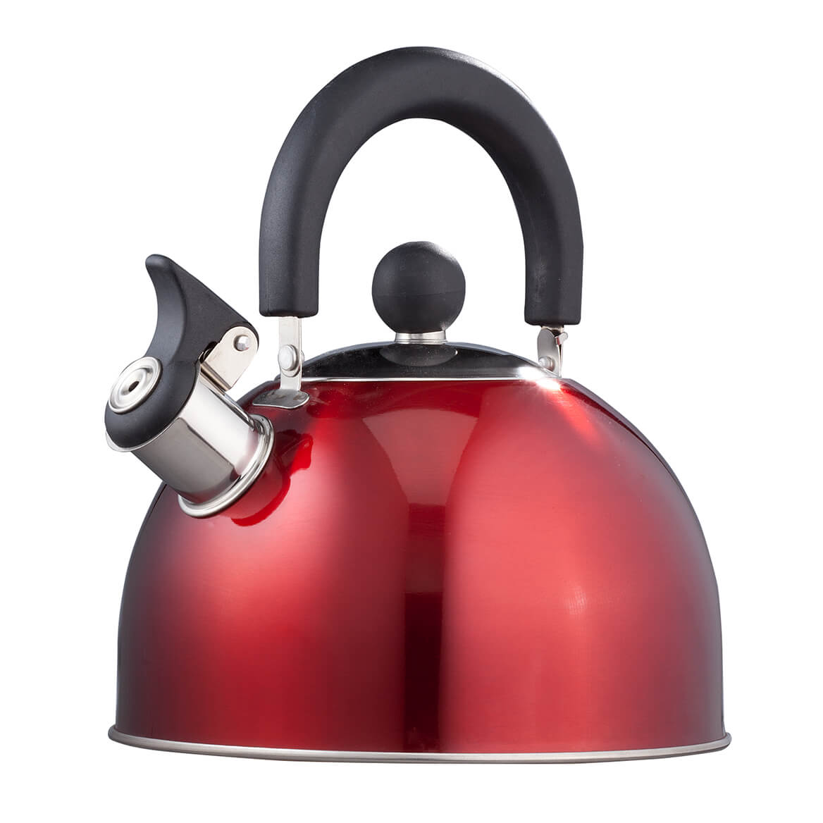 Red Whistling Tea Kettle by Home-Style Kitchen™-353543