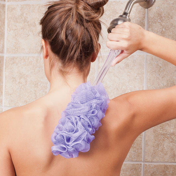 how to clean your loofah