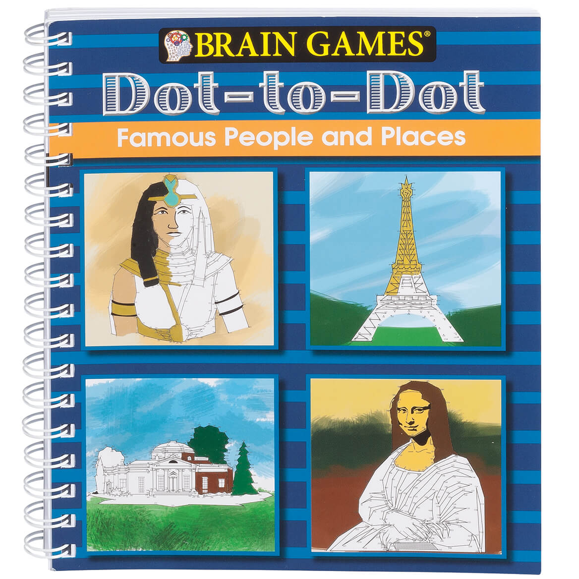 Brain Games® Famous People Dot-to-Dot Puzzle Book-354057