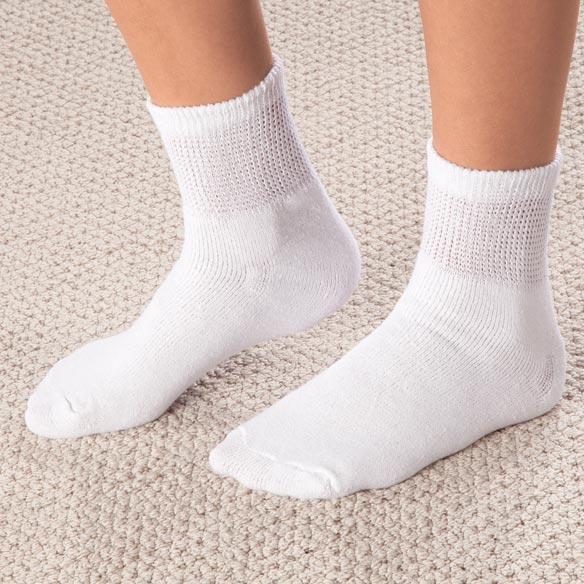 Healthy Steps 3 Pack Quarter Cut Diabetic Socks