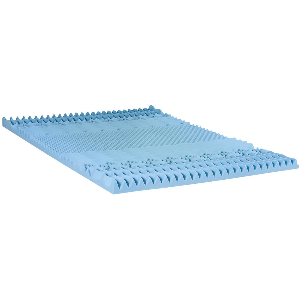 """3"""" Gel Memory Foam 7-Zone Mattress Topper-358264"""