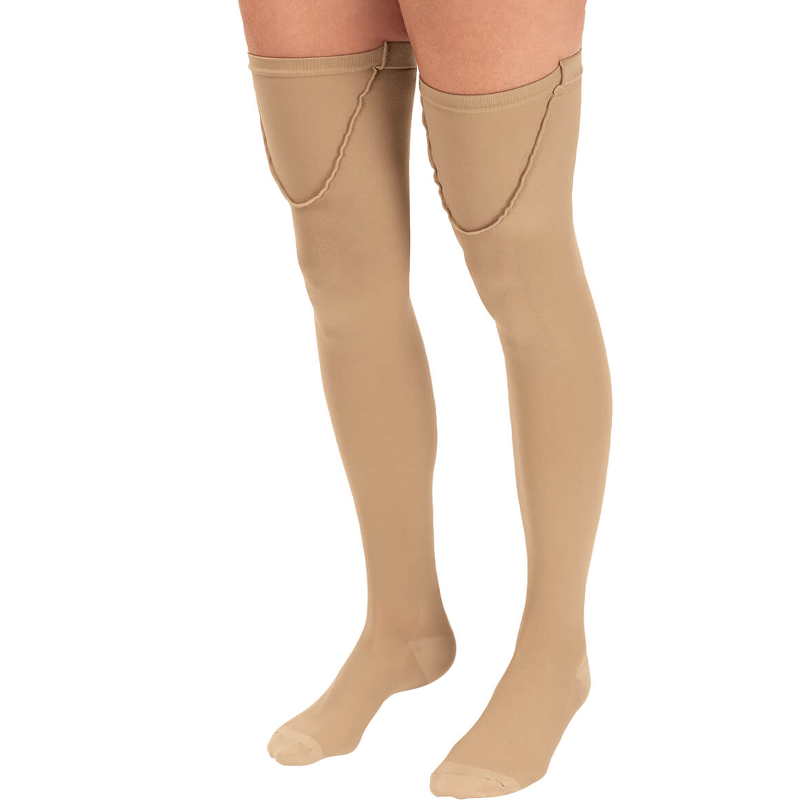 Silver Steps™ Anti-Embolism Thigh-High Closed Toe Stockings-368291